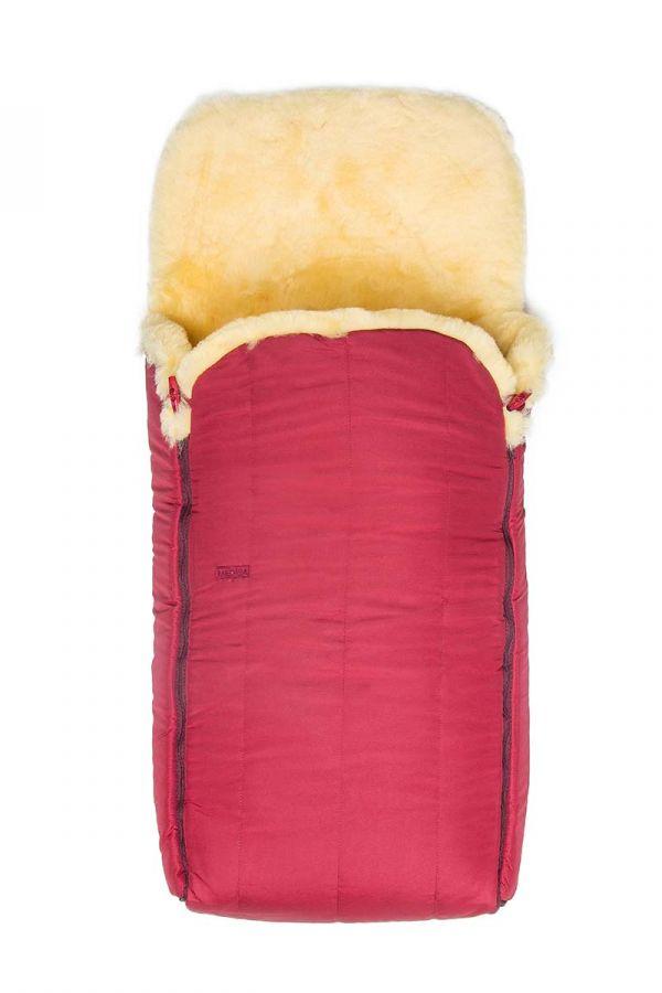 Sheepy Care Детский Конверт Из Натуральной Овчины С Двойной Молнией  Бордовый