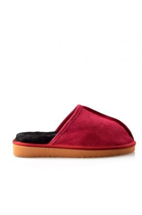 Pegia Women House-shoes From Genuine Suede & Fur Plum
