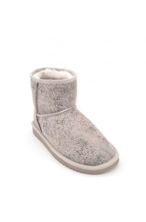 Cool Moon Women Ugg Style Boots From Genuine Sheepskin Fur Beige
