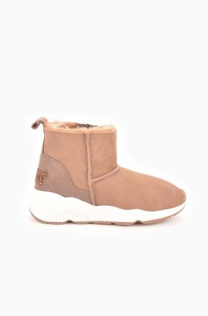 Pegia Classic Sport Women Boots From Genuine Suede And Sheepskin Mink