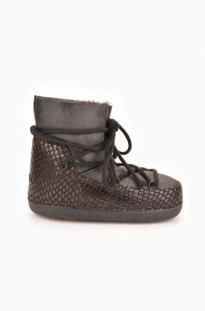 Cool Moon Moonboots From Genuine Sheepskin Black