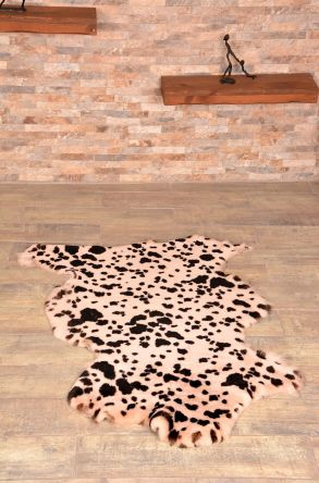 Erdogan Deri Bright Decorative Sheepskin Rug Natural