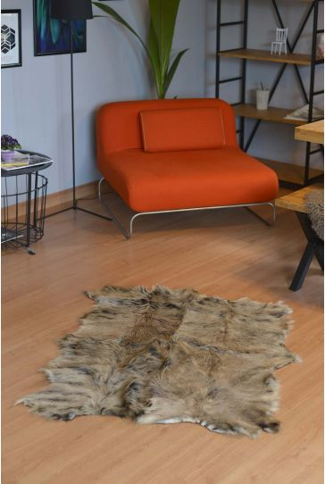 Erdogan Deri Decorative Rug From Genuine Toscana Fur Natural