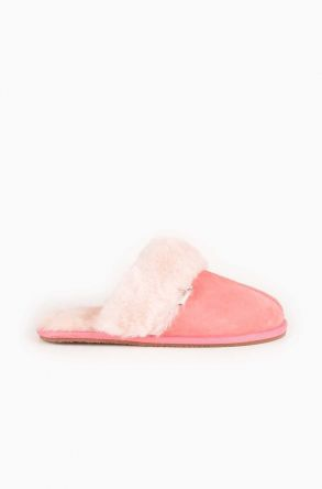 Pegia Unisex House-shoes From Genuine Fur Pink