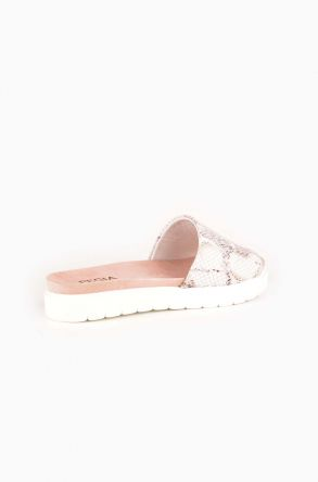Pegia Drancy Women Slippers From Genuine Leather White