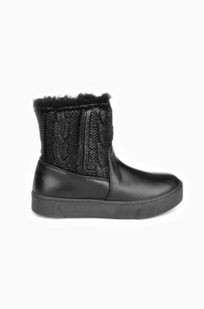 Pegia Women Ugg Boots From Genuine Sheepskin Fur Black