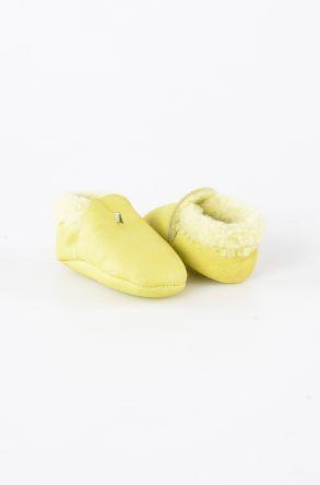 Pegia Hakiki Kürk Bebek Patiği 143004 Açık Yeşil