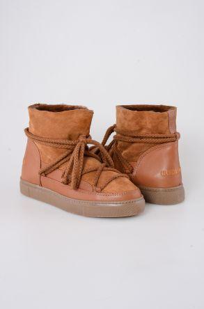 Cool Moon Hakiki Süet İçi Kürk Kadın Sneaker 355001 Taba